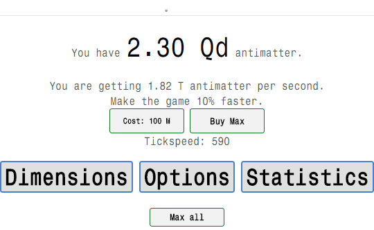 Antimatter Dimensions (Idle Game)