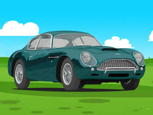 Aston Martin Cartoon Puzzle