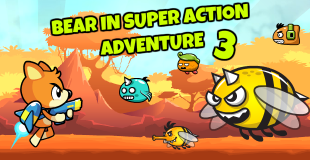 Bear in Super Action Adventure 3 - on Armor Games