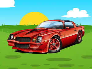 Camaro Coupe Cartoon