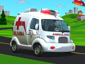 Cartoon Ambulance Van