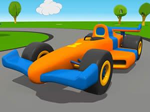Cartoon Racing Cars Memory