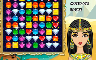 Diamonds Egyptian princess | PlayGB