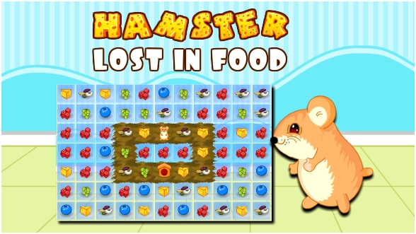 Hamster Lost in Food - Net Freedom Games
