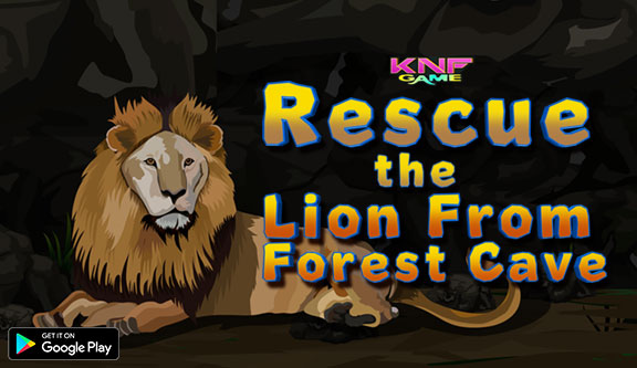 Knf Rescue the Lion From Forest Cave - knfgame