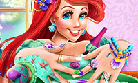 Mermaid Princess: Nails Spa
