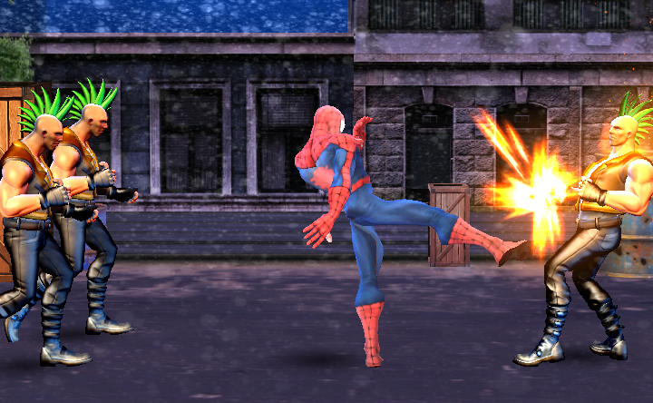 Spider Hero Street Fighter