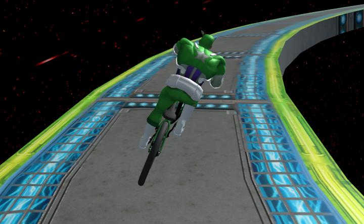 SuperHero BMX Space Rider Game