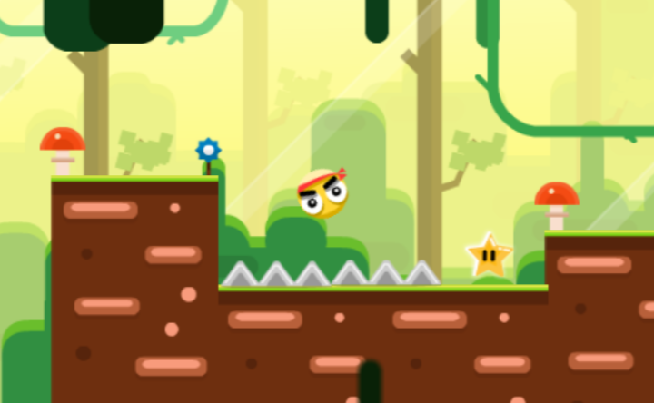 Yellow Ball Adventure Game