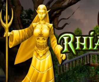 Yolk Goddess Rhiannon Statue Escape